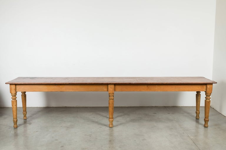 Wood Late 19th Century American General Store or Harvest Table For Sale