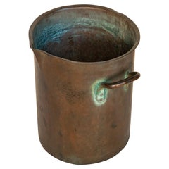 Late 19th Century American Heavy Forged & Riveted Bronze / Red Brass Pot