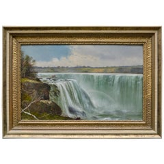 Late 19th Century American Oil Painting of Niagara Falls