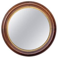 Late 19th Century American Round Mirror