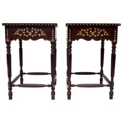 Late 19th Century Anglo-Indian Side Tables, Pair