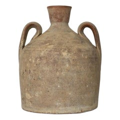 Late 19th Century Antique Bell Shaped Portuguese Terracotta Jug