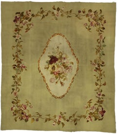 Late 19th Century Antique French Aubusson Rug with French Renaissance Style