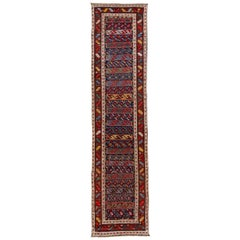 Late 19th Century Antique Kazak Wool Runner Rug