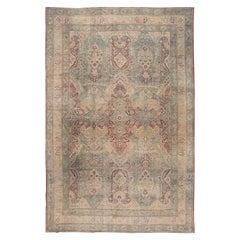 Late 19th Century Antique Kirman Wool Rug