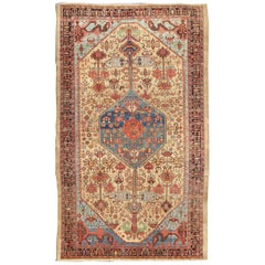 Late 19th Century Antique Persian Bakshaish Rug with Tribal Medallion Design