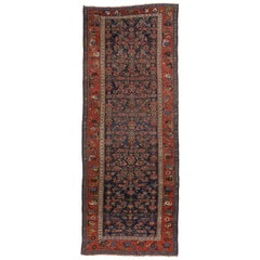 Late 19th Century Antique Persian Bijar Hallway Runner with Traditional Style