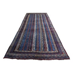 Late 19th Century Antique Persian Tribal Lori Buft Rug Shawl Des