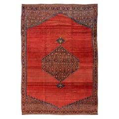 Late 19th Century Antique Red Bidjar wool Rug