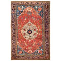 Late 19th Century Antique Serapi Oversize Wool Rug