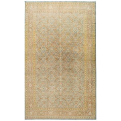 Late 19th Century Antique Tabriz Wool Rug