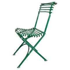Late 19th Century Arras Garden Chair