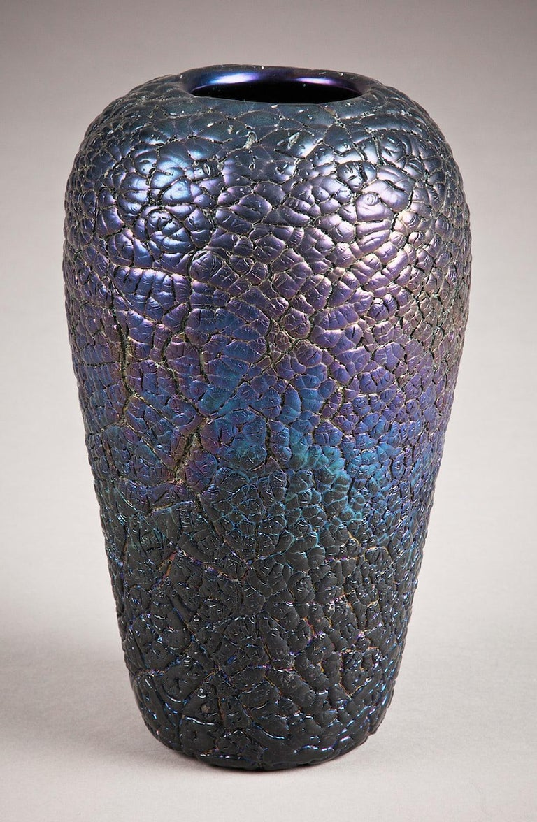 Hand-Crafted Late 19th Century Art Glass Vase by Thomas Webb, English, circa 1890 For Sale