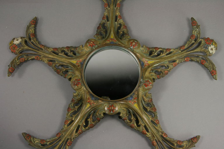 Belgian Late 19th Century Art Mirror For Sale