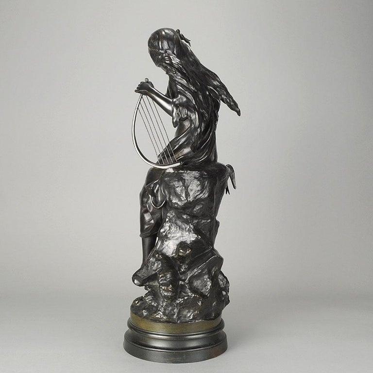 """Late 19th Century Art Nouveau Bronze """"Hirondelles"""" by Mathurin Moreau For Sale 1"""