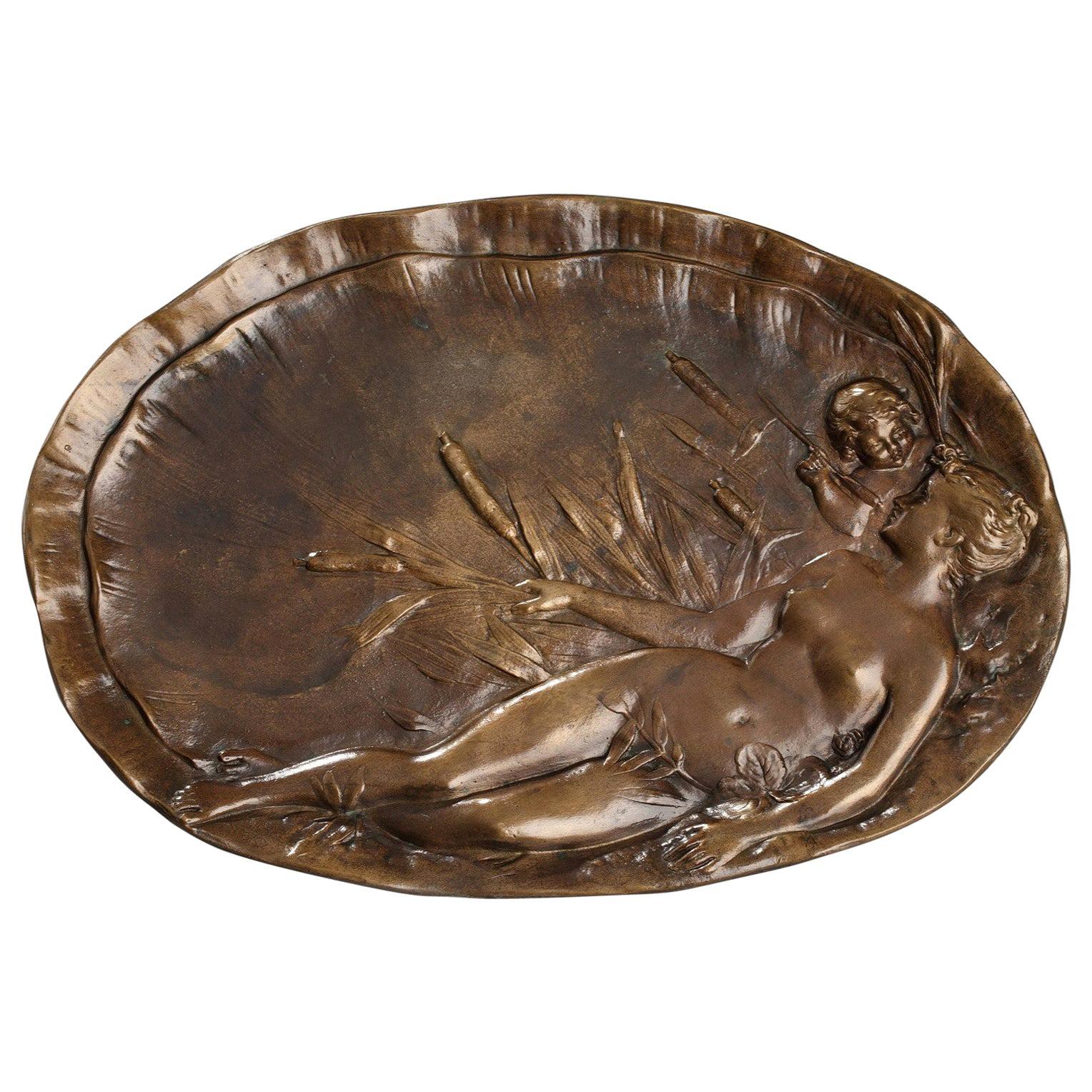 Late 19th Century Art Nouveau Bronze Tray by Emile Vernier