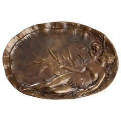 Late 19th Century Art Nouveau Bronze Tray by Emile Vernier