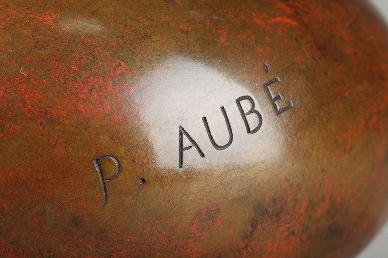 Late 19th Century Art Nouveau Bronze Vase by Jean-Paul Aubé For Sale 1