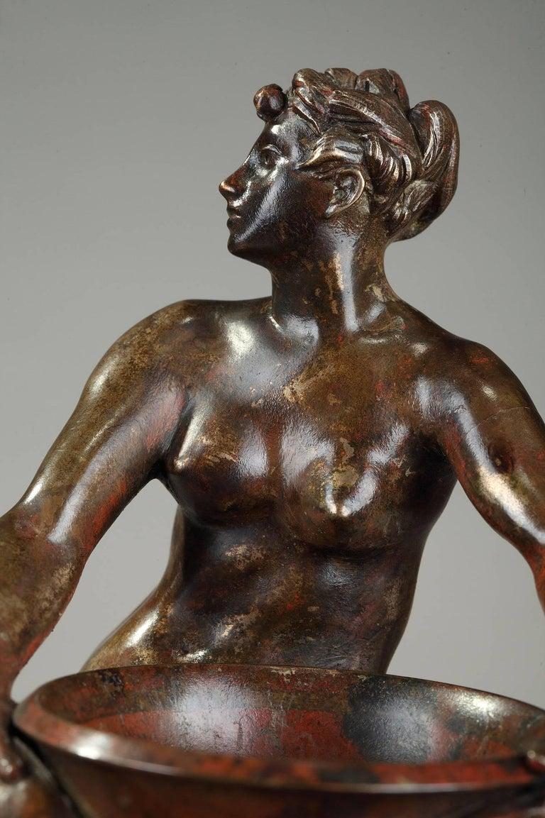 Late 19th Century Art Nouveau Bronze Vase by Jean-Paul Aubé For Sale 2