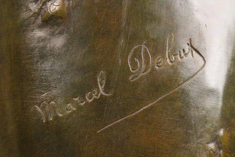 Late 19th Century Art Nouveau Bronze Vase by Marcel Debut For Sale 5