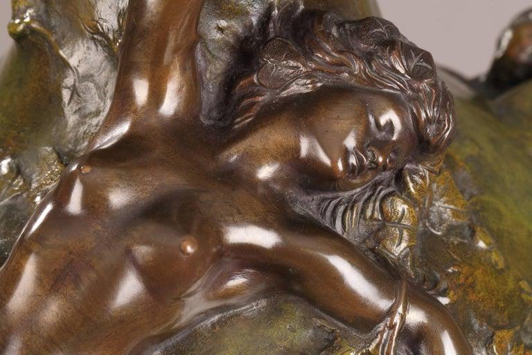 Late 19th Century Art Nouveau Bronze Vase by Marcel Debut For Sale 1
