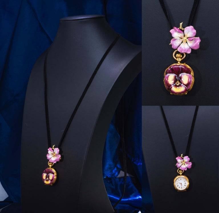 Dimensions Styled as Necklace : 60 mm drop from top to bottom   Dimensions Styled as a Brooch / Pin only  20mm tall  x 30mm wide   Dimensions Styled as Necklace Timepiece only : 40mm tall x 28mm wide  Interchangeable and Can be fashioned in 4
