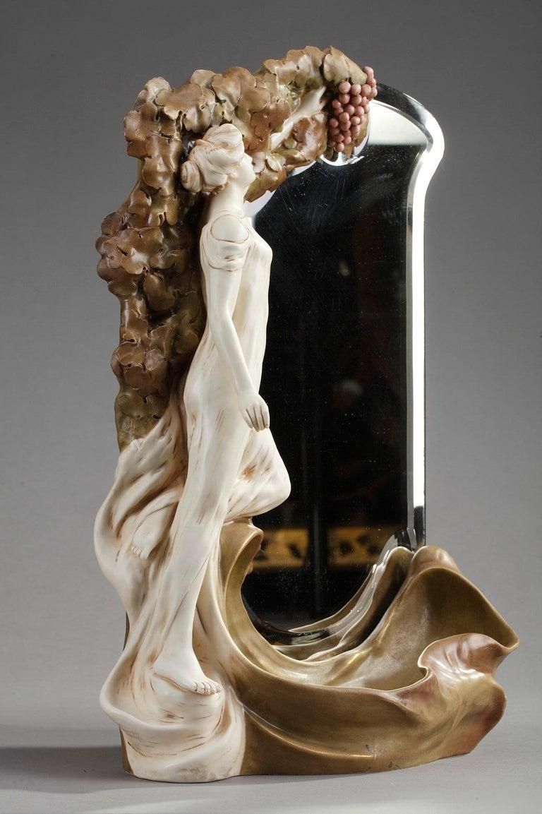 Late 19th Century Art Nouveau Mirror by Royal Dux Bohemia For Sale 7