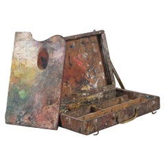 Late 19th Century Artist Paint Box and Palette