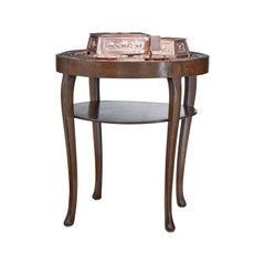 Late 19th Century Arts & Crafts Copper Tray Table with Collection