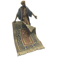 Late 19th Century Austrian Cold Painted Bronze, Carpet Seller