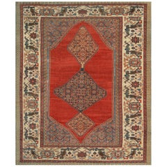 Hand-Woven Late 19th Century Wool Bakhshaish Rug