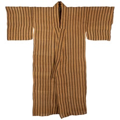 Late 19th Century Banana Fiber Kimono from Okinawa / Bashōfu, Japan