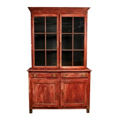 Late 19th Century Belgian Red Painted Bookcase