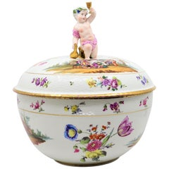 KPM Porcelain Bowl with Child Toasting Wine