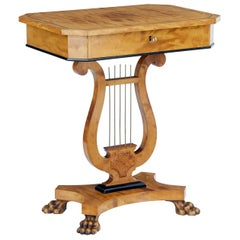 Late 19th Century Birch Lyre Form Occasional Table