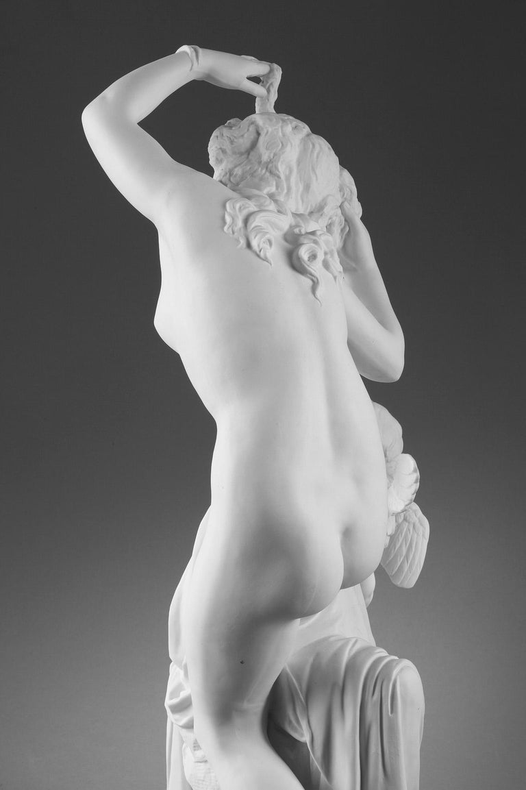 Late 19th Century Bisque Group Cupid and Psyche For Sale 4