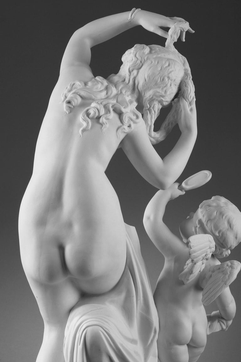 Late 19th Century Bisque Group Cupid and Psyche For Sale 5
