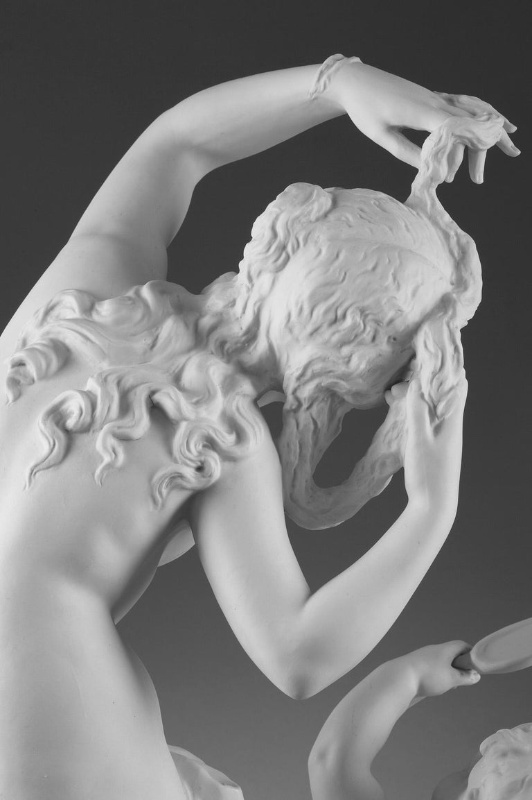 Late 19th Century Bisque Group Cupid and Psyche For Sale 6