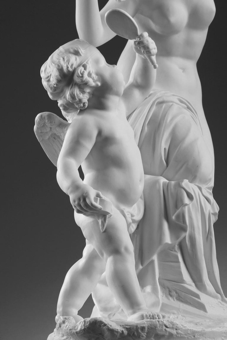 Late 19th Century Bisque Group Cupid and Psyche For Sale 9