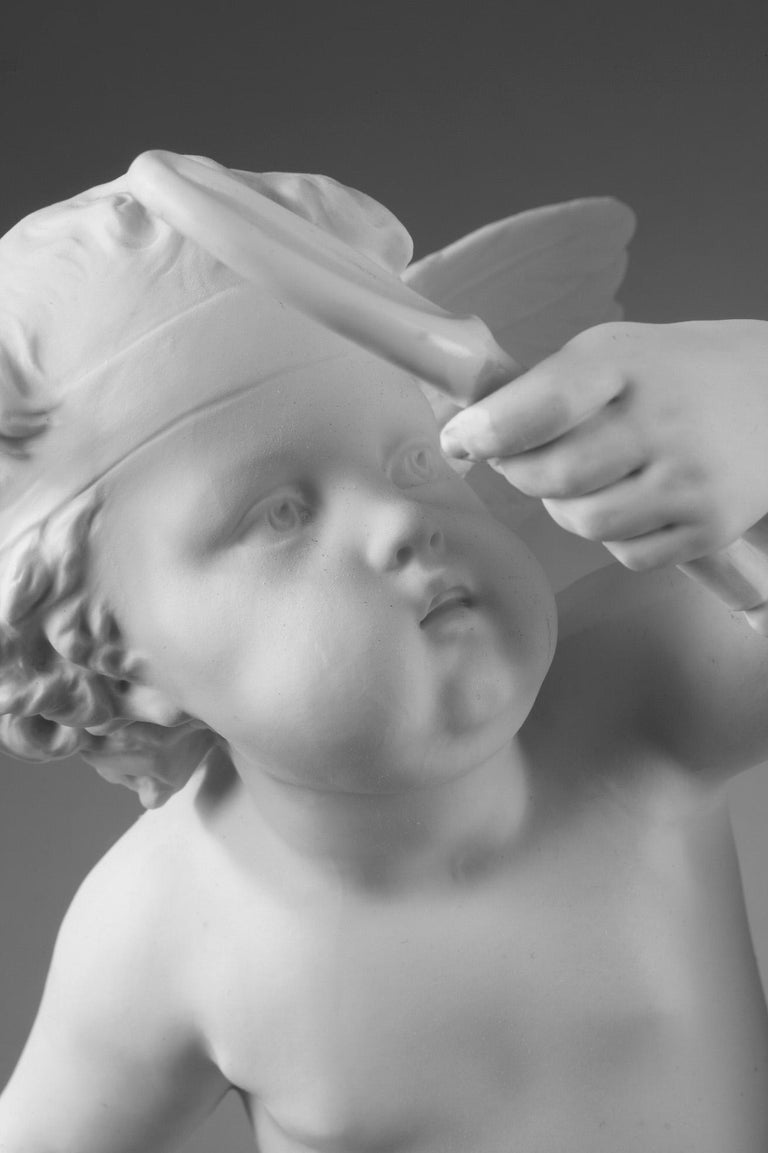 Late 19th Century Bisque Group Cupid and Psyche For Sale 12