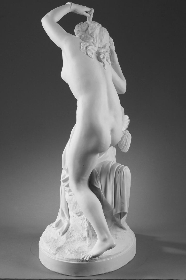 French Late 19th Century Bisque Group Cupid and Psyche For Sale