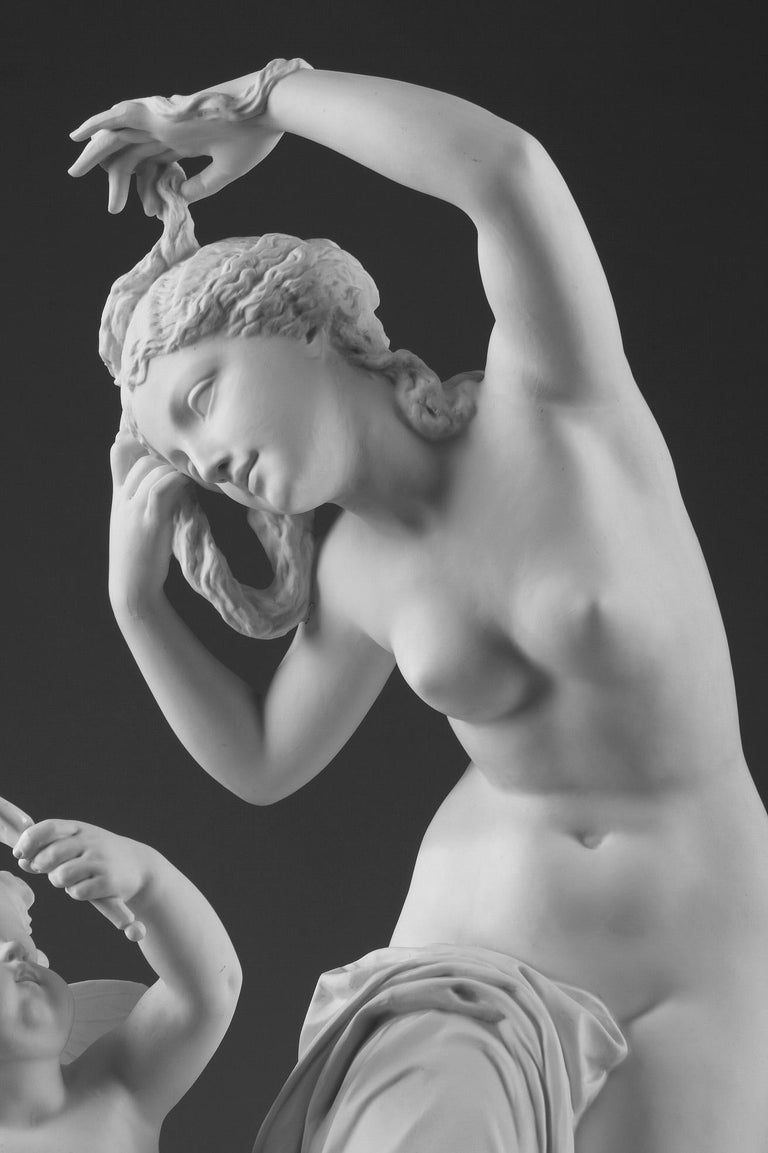 Late 19th Century Bisque Group Cupid and Psyche For Sale 1