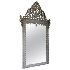 Late 19th Century Bone Moroccan Inlaid Mirror