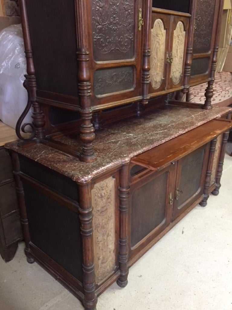 Late 19th Century Brasserie Buffet Signed Jacob Josef Kohn, 1890s For Sale 6