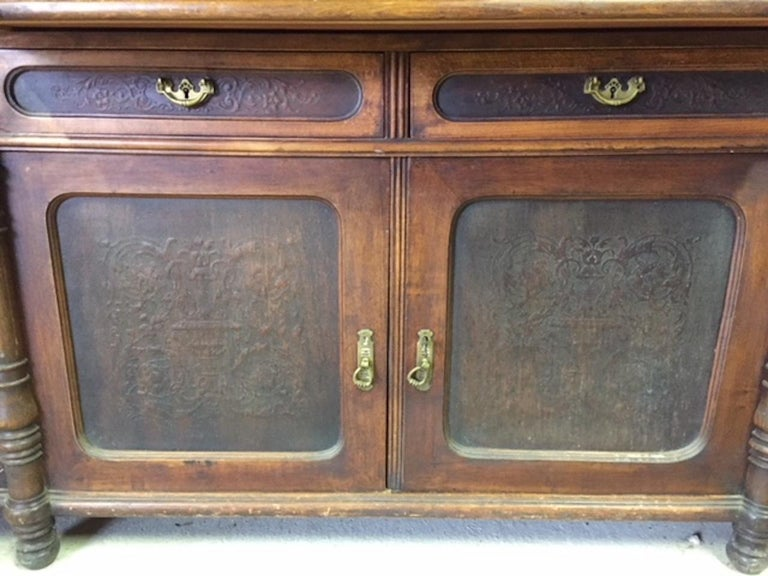 Late 19th Century Brasserie Buffet Signed Jacob Josef Kohn, 1890s For Sale 7