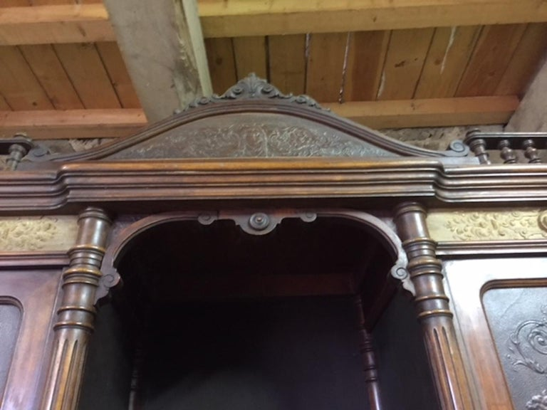 Late 19th Century Brasserie Buffet Signed Jacob Josef Kohn, 1890s In Good Condition For Sale In LEGNY, FR