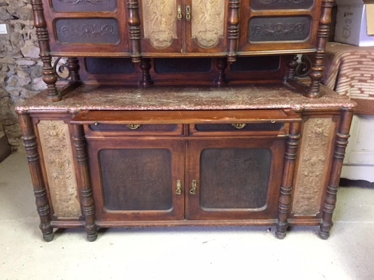 Late 19th Century Brasserie Buffet Signed Jacob Josef Kohn, 1890s For Sale 1