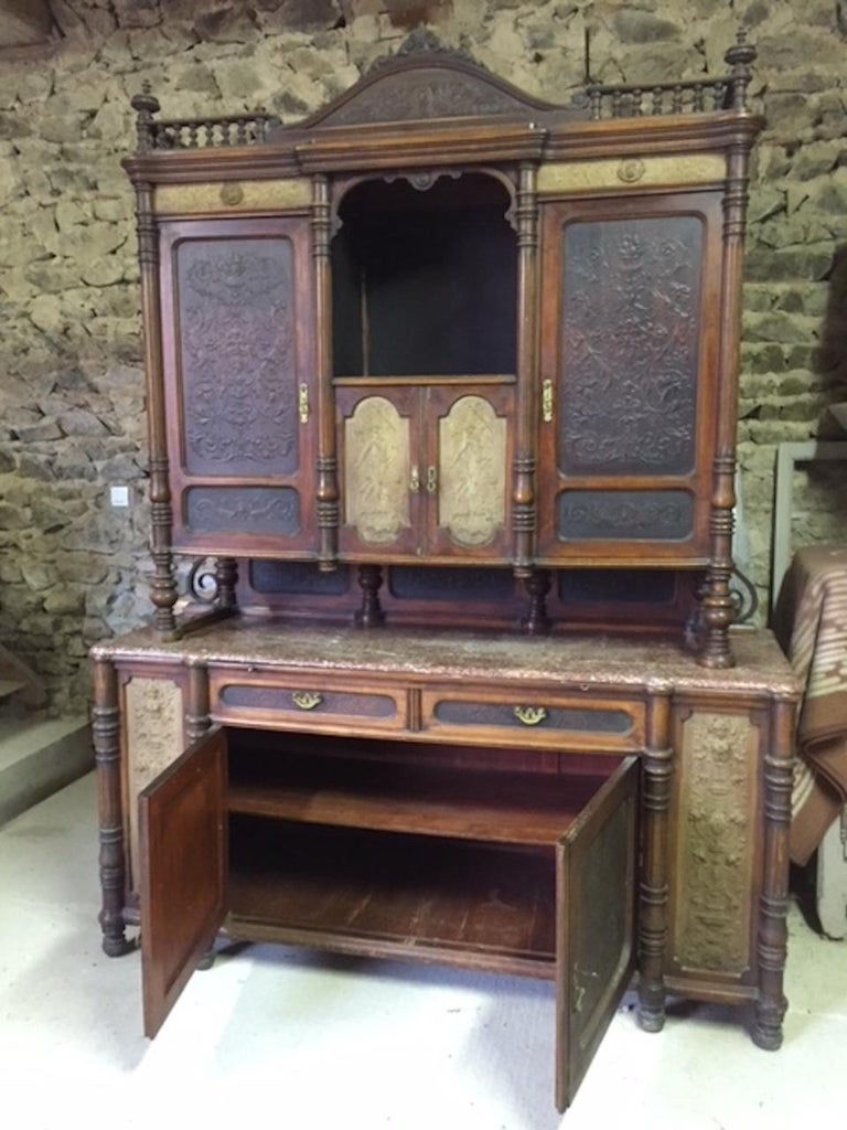 Late 19th Century Brasserie Buffet Signed Jacob Josef Kohn, 1890s For Sale 4