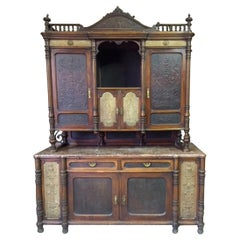 Late 19th Century Brasserie Buffet Signed Jacob Josef Kohn, 1890s