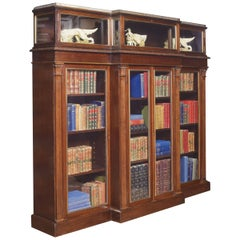 Late 19th Century Breakfront Display Bookcase